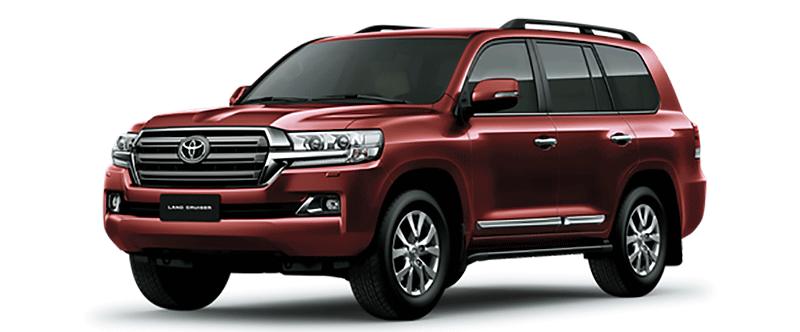 Toyota Land Cruiser Màu Đỏ