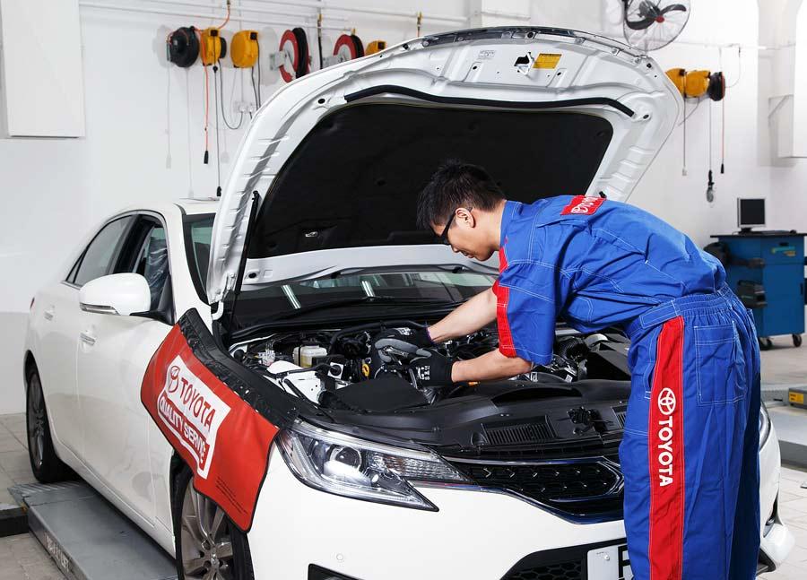 Dịch vụ sửa chữa chính hãng tại Toyota An Giang