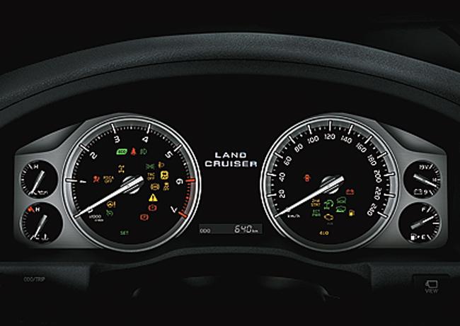 Cụm đồng hồ của Toyota Land Cruiser
