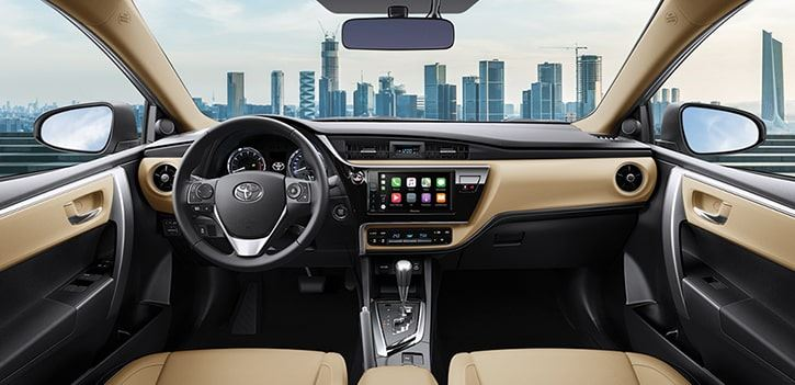 Không gian nội thất xe Toyota Corolla Altis sang trọng, tinh tế