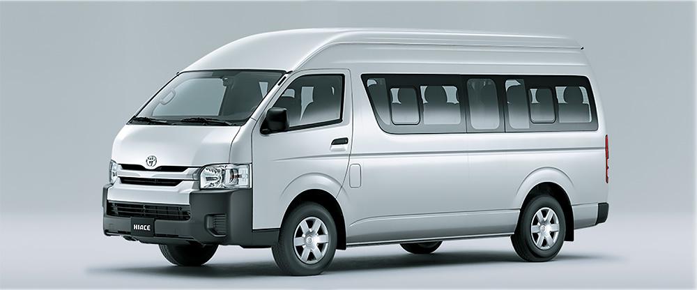 Tổng thể ngoại thất Toyota Hiace