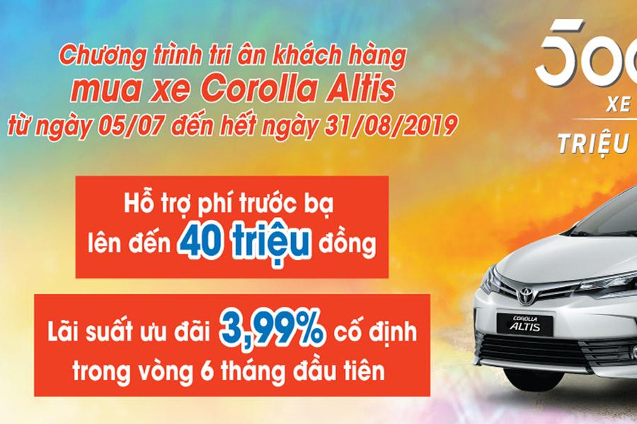 Khuyến mãi Toyota Altis An Giang